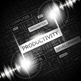 PRODUCTIVITY. Word cloud concept illustration. Wordcloud collage Royalty Free Stock Photo