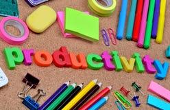 Productivity word on cork Royalty Free Stock Photo
