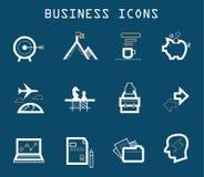 Productivo en los iconos del trabajo - serie azul Imagenes de archivo