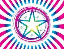 Producto abstracto de la estrella de la ilustración de color Imagen de archivo