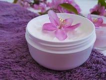 Producto cosmético de la salud de la protección del balneario del cuidado del salón de la piel de la salud de la desnatadora hech Foto de archivo libre de regalías