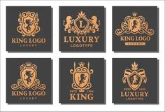 Producto de alta calidad del vintage de la cresta real de lujo del boutique stock de ilustración