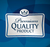 Producto de calidad superior de la etiqueta de plata Imagen de archivo libre de regalías