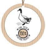 Producto de Duck Farm Fresh Natural de la etiqueta de la cartulina Imágenes de archivo libres de regalías