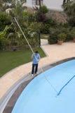 Producto de limpieza de discos de la piscina Imagen de archivo