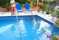 Producto de limpieza de discos de la piscina Fotografía de archivo
