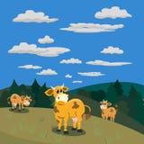 Producto natural de la lechería stock de ilustración