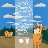 Producto natural de la lechería libre illustration