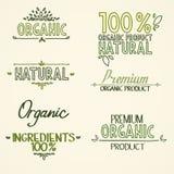 Producto natural de los títulos orgánicos de la comida sana Imagenes de archivo