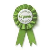 Producto natural, orgánico Etiqueta realista, verde Fotos de archivo libres de regalías