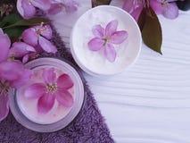Producto orgánico de la salud de la protección de la salud de la desnatadora del cuidado del tratamiento rústico cosmético del ba Imagen de archivo