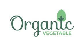 Producto orgánico, verdura, fruta, etiqueta, muestra, icono, logotipo, símbolo imagen de archivo libre de regalías