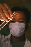Producto químico de la verificación del científico imagen de archivo