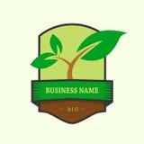Producto verde del logotipo bio stock de ilustración