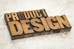 Productontwerp in houten type Royalty-vrije Stock Foto
