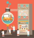 Productontwikkeling vector illustratie