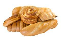 Productos alimenticios de la panadería fijados Fotos de archivo
