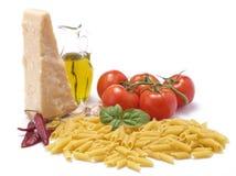 Productos alimenticios italianos de la cultura tradicional Fotos de archivo libres de regalías