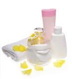 Productos cosméticos Imagenes de archivo