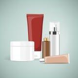 Productos cosméticos ilustración del vector