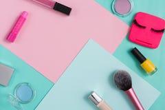 Productos de belleza, maquillaje diario, cosméticos Fotografía de archivo libre de regalías