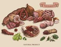 Productos de carne Foto de archivo