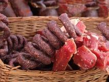 Productos de carne clasificados fotos de archivo libres de regalías