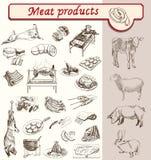 Productos de carne del appetit del Bon Fotografía de archivo