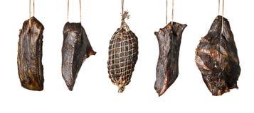 Productos de carne fumados Fotos de archivo libres de regalías