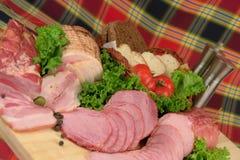 Productos de carne fumados Foto de archivo