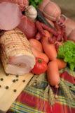 Productos de carne fumados Imágenes de archivo libres de regalías