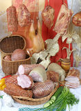 Productos de carne fumados Fotografía de archivo
