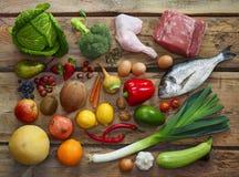 Productos de dieta de Paleo Foto de archivo