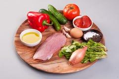 Productos de dieta sanos crudos Fotos de archivo libres de regalías