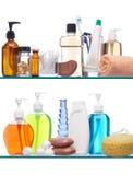 Productos de higiene personal Fotos de archivo libres de regalías