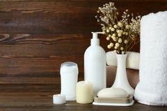 Productos de higiene personal Imágenes de archivo libres de regalías