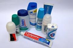 Productos de higiene personal venezolanos Imágenes de archivo libres de regalías