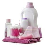 Productos de higiene y accesorios del cuarto de baño Fotos de archivo