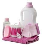 Productos de higiene y accesorios del cuarto de baño Fotos de archivo libres de regalías