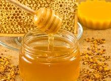 Productos de la abeja Fotos de archivo