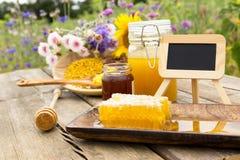 Productos de la apicultura Imagenes de archivo