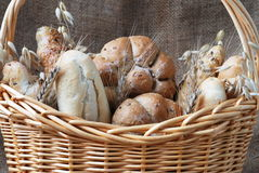 Productos de la panadería Imágenes de archivo libres de regalías