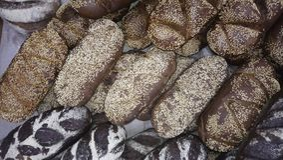 Productos de la panadería por el Año Nuevo Imagenes de archivo