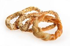 Productos de la panadería pretzeles imagen de archivo libre de regalías