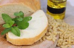 Productos de la pasta del trigo Imágenes de archivo libres de regalías