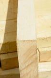 Productos de la serrería tablero del tilo Foto de archivo libre de regalías