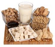 Productos de la soja Imagen de archivo