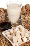 Productos de la soja Fotos de archivo