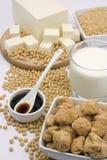 Productos de la soja Imagenes de archivo