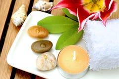 Productos de la terapia del masaje Imágenes de archivo libres de regalías